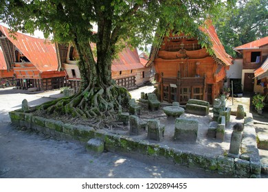 Batu Parsidangan is a historic site in Siallagan Village, Samosir Island, northern Sumatra, Indonesia. This is a kind of court in ancient times. Historically, King Siallagan and traditional elders and
