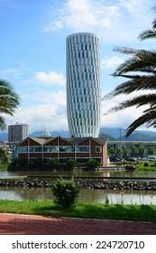 BATUMI, ADJARA, GEORGIA - SEPTEMBER 22: The House of Justice on September 22, 2014 in Batumi. The Project of Batumi Justice House belongs to the Italian architect Michele de Lucchi.