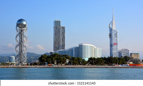 BATUMI GEORGIA 09 19 2019: Batumi is the capital of the Autonomous Republic of Adjara and the third-largest city of Georgia, located on the coast of the Black Sea in the country's southwest