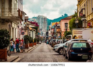 Batumi, Georgia - 10 September 2015: streets in old town of Batumi