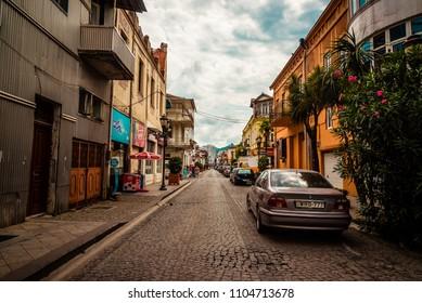 Batumi, Georgia - 10 September 2015: streets of Batumi