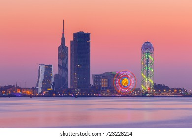 Batumi. View of the city at sunset.