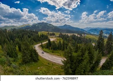 Batumi-Akhaltsikhe Trans-Adjaran unpaved road of Georgia