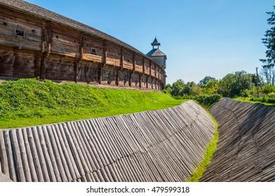 Baturin Fortress on river Seim, in years 1669-1708 was residence of three Ukrainian Hetmans: Demian Mnohohrishny, Ivan Samoilovych and Ivan Mazepa. Baturin, Chernihiv province, Ukraine.