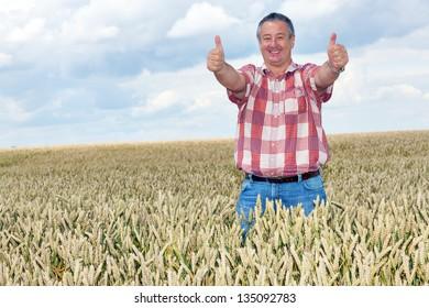 Bauer shows joy in his corn field