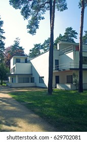 Bauhaus style architecture in Dessau, germany