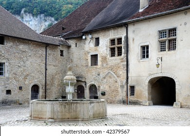 Baume Abbey, in its village of Baume-les-Messieurs, Jura, France, was founded in the early tenth century, as a Benedictine abbey.