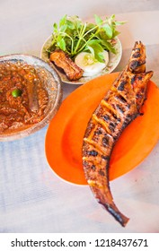 Baung Fish Grilled, traditional food from Banjarmasin, South Kalimantan.