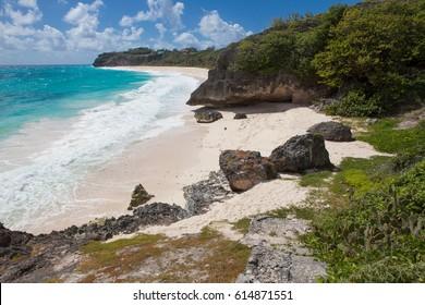 Bautiful and tropical beach Foul Bay, Barbados, Caribbean.