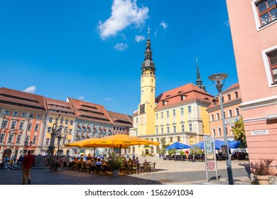 Bautzen, Germany - September 1, 2019: Town Hall of the city of Bautzen, Upper Lusatia, Saxony Germany
