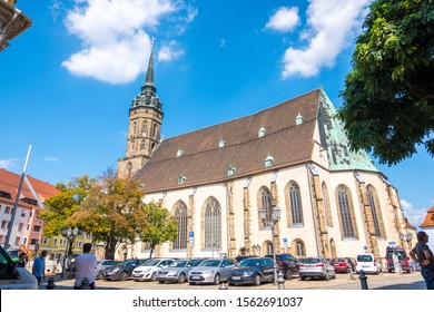 Bautzen, Germany - September 1, 2019: St. Peter's Cathedral in the city of Bautzen in Upper Lusatia, Saxony, Germany