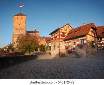 Bavaria, Germany: historic Nuremberg Castle.