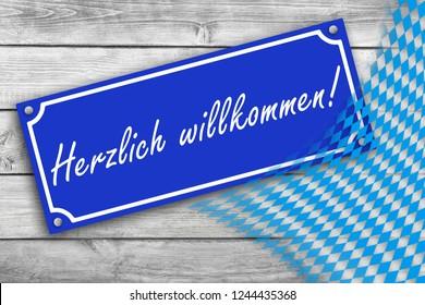 Bavaria Herzlich willkommen  Hearty Welcome