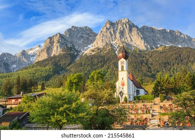 Bavaria mountain landscape at Zugspitze top of Germany