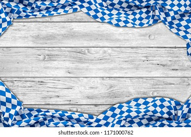 bavaria white wooden rustic wood background texture with bavarian flag empty copy space