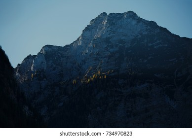 Bavarian alps around lake Königssee in autumn