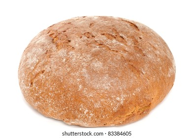 Bavarian bread in front of a white background