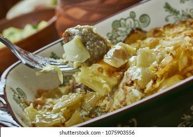 Bavarian cuisine , Traditional German Cabbage Casserole