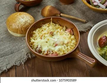 Bavarian cuisine , Traditional German Sauerkraut Casserole