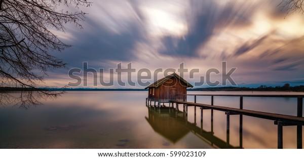 Bavarian fishing lodge