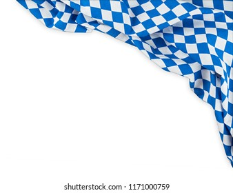 bavarian flag oktoberfest background with white blue bavaria isolated white background