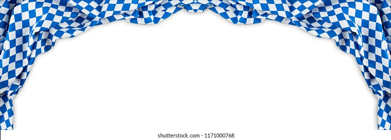 bavarian flag wide panorama oktoberfest background with white blue bavaria isolated white background