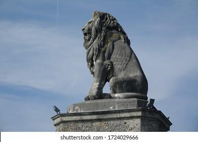 Bavarian lion at the port of Lindau