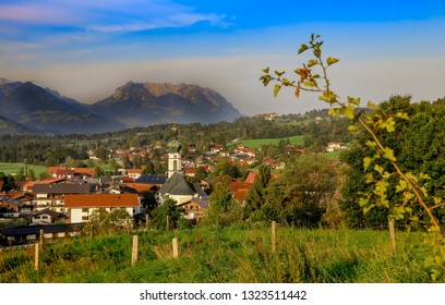 bavarian village with mountain background reit im winkl wilder k