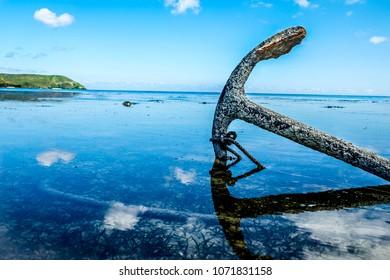 Bay Anchor in Fiji, White Sandy Beach