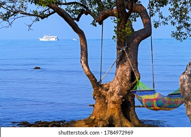Bay bailan in morning and sunshine at Koh Chang Thailand.Koh Chang is located in the eastern Gulf of Thailand. It is an island with beautiful nature. Famous for tourism