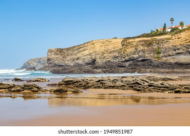 bay and beach of Zambujeira (Praia da Zambujeira), Alentejo, Portugal