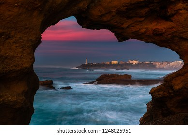 Bay of Biscay in Biarritz, France
