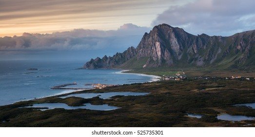 The Bay of Bleik after Sunset, Andoya, Vesteralen, Norway
