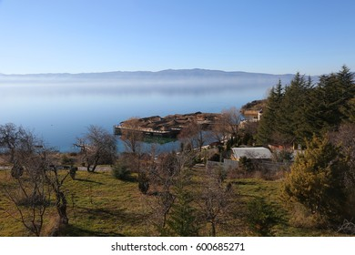 'Bay of Bones' underwater museum at Lake Ohrid in Macedonia.