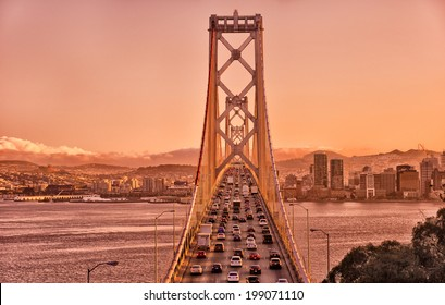 Bay Bridge connecting San Francisco and Oakland