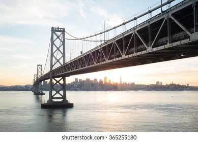 bay bridge in day light