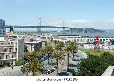 Bay Bridge from Giant's Stadium