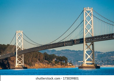 Bay bridge in San Francisco, California, USA.