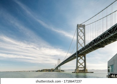 The Bay Bridge Stands Strong over San Francisco Bay