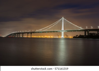 Bay Bridge's Eastern Span Replacement from Treasure Island, San Francisco, California, USA