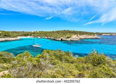 Bay of Cala Mondrago - beautiful beach and coast of Mallorca
