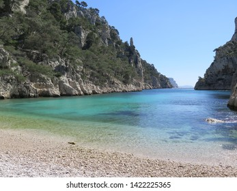bay of Calanque d en Vau Calanques National Park Marseille Provence April France