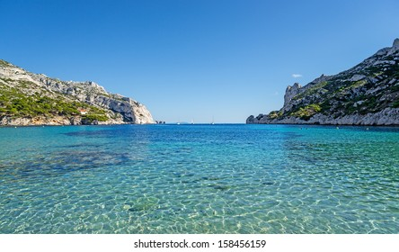 "The bay ""Calanque Sormiou"" near Marseille in South France"