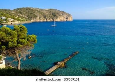 The bay of Camp de Mar, Majorca