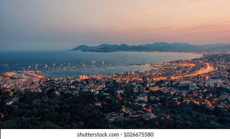 Bay of Cannes on the French Riviera