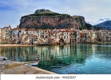 Bay in Cefalu, Sicily