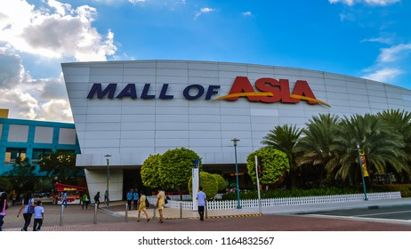Bay City, Pasay, Philippines - Jan. 7, 2013: SM Mall of Asia, or MoA, is a shopping mall in Bay City, Pasay, Philippines