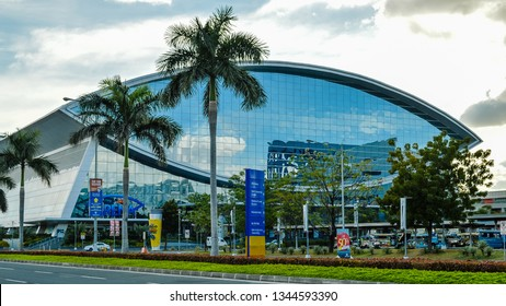 Bay City, Pasay, Philippines - Jan. 7, 2013: Mall of Asia Arena. It is an indoor arena within the SM Mall of Asia complex, in Bay City, Pasay, Philippines.