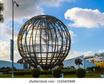 Bay CIty, Pasay/Philippines - Jan. 7, 2013: World globe at the Mall of Asia Rotunda, Pasay, Philippines.