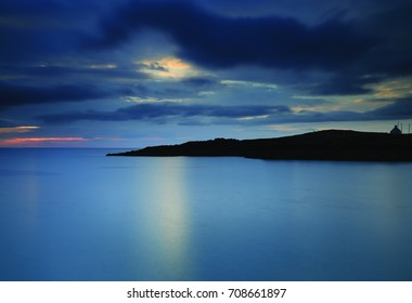 bay of clachtoll, lochinver, scottish highlands, sunset